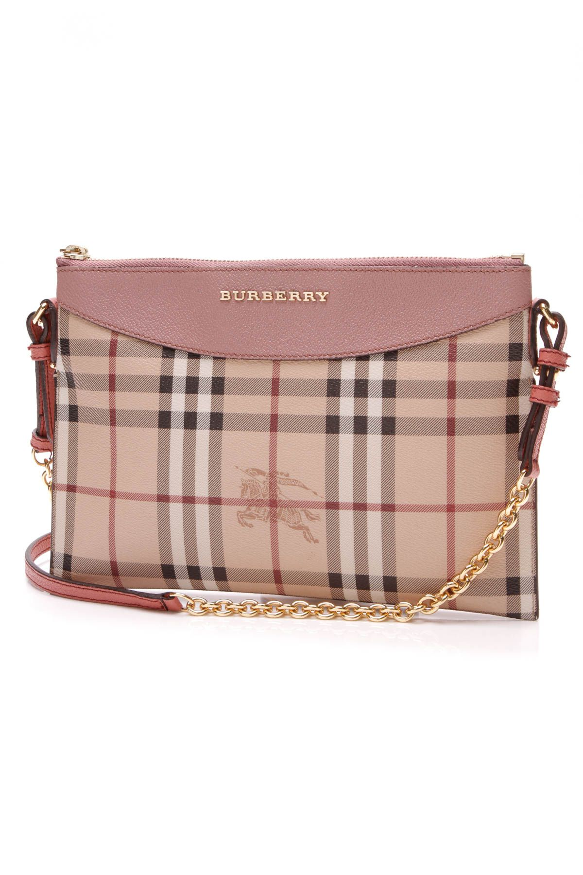 8581e0777666 Burberry Peyton Crossbody Bag - Haymarket Check Pink