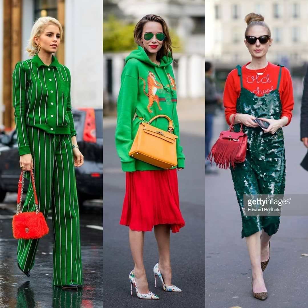 Como Combinar Rojo Y Verde En Un Outfit Streetstyle Style Likeforfollow Fashion Fashionblogger Shoping C Atuendo Estilo Moda Estilo