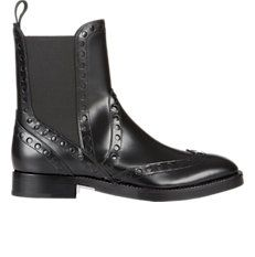 """Perforated """"Nicole"""" Chelsea Boots"""