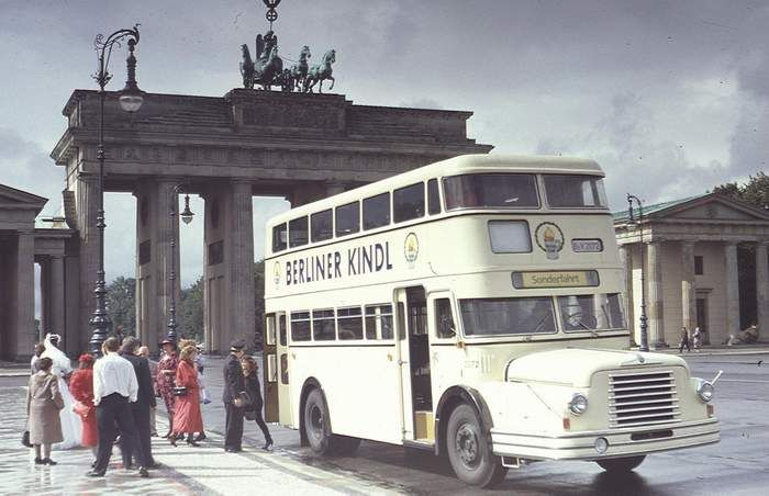 Autobus Berlin Baujahr 1956 Berlin Oldtimer Bus Bvg Berlin