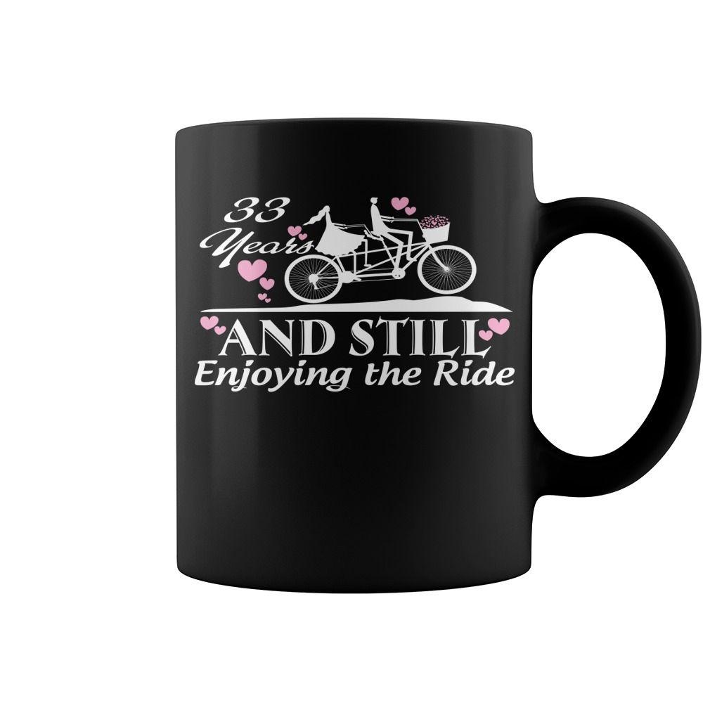 33rd Wedding Anniversary Gifts Funny Bicycle Hot Mug Coffee Mug