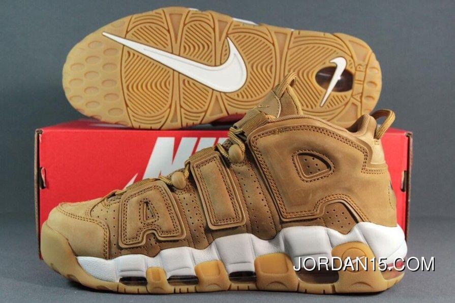 9c34b414d85b7 Nike Air More Uptempo Wheat Flax Gum Aa4060-200 Mens New Year Deals ...