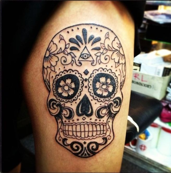 Tatouage Tete De Mort Mexicaine Qui Vivra Calavera Tatouage