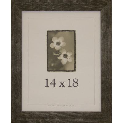 "Frame USA Farmhouse Barnwood Picture Frame Color: Charcoal, Size: 14"" x 18"""