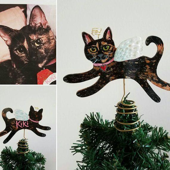 Cat Angel Christmas Tree Topper: Custom Cat Tree Topper
