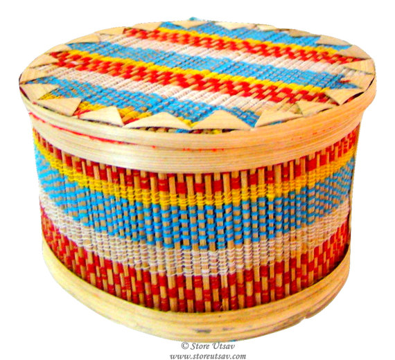 Box Bamboo Handmade Indian Handicraft Home Decor Collectible