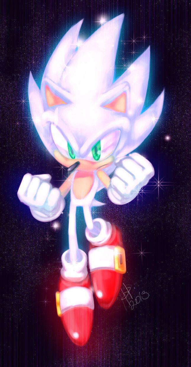 Hyper Sonic Sonic Dibujos Sonic The Hedgehog Y Sonic El Erizo