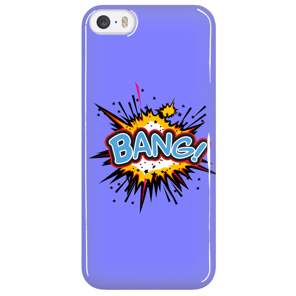 BANG! iPhone 5 cell phone case (Blue)