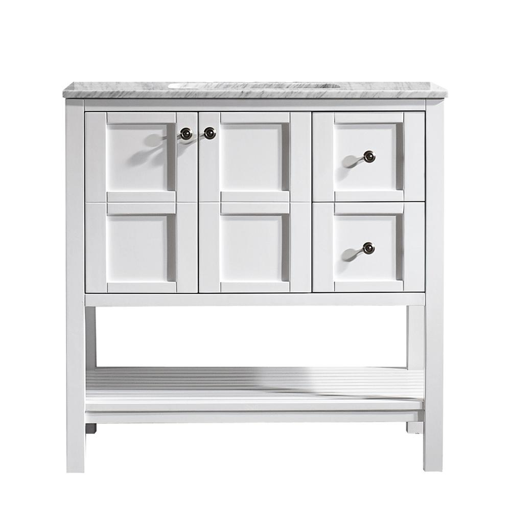 Vinnova Florence 36 In W X 22 In D X 35 In H Vanity In White With