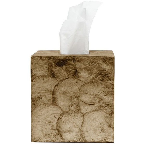 Pigeon & Poodle Andria Dark Olive Tissue Box Cover ($95) ❤ liked on Polyvore featuring home, bed & bath, bath and bath accessories