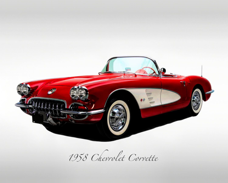 Classic Cars – 1958 Chevrolet Corvette – Print