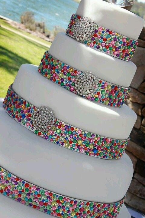 Jewel cake - maybe not so bright | Cakes | Jewel wedding cake ...