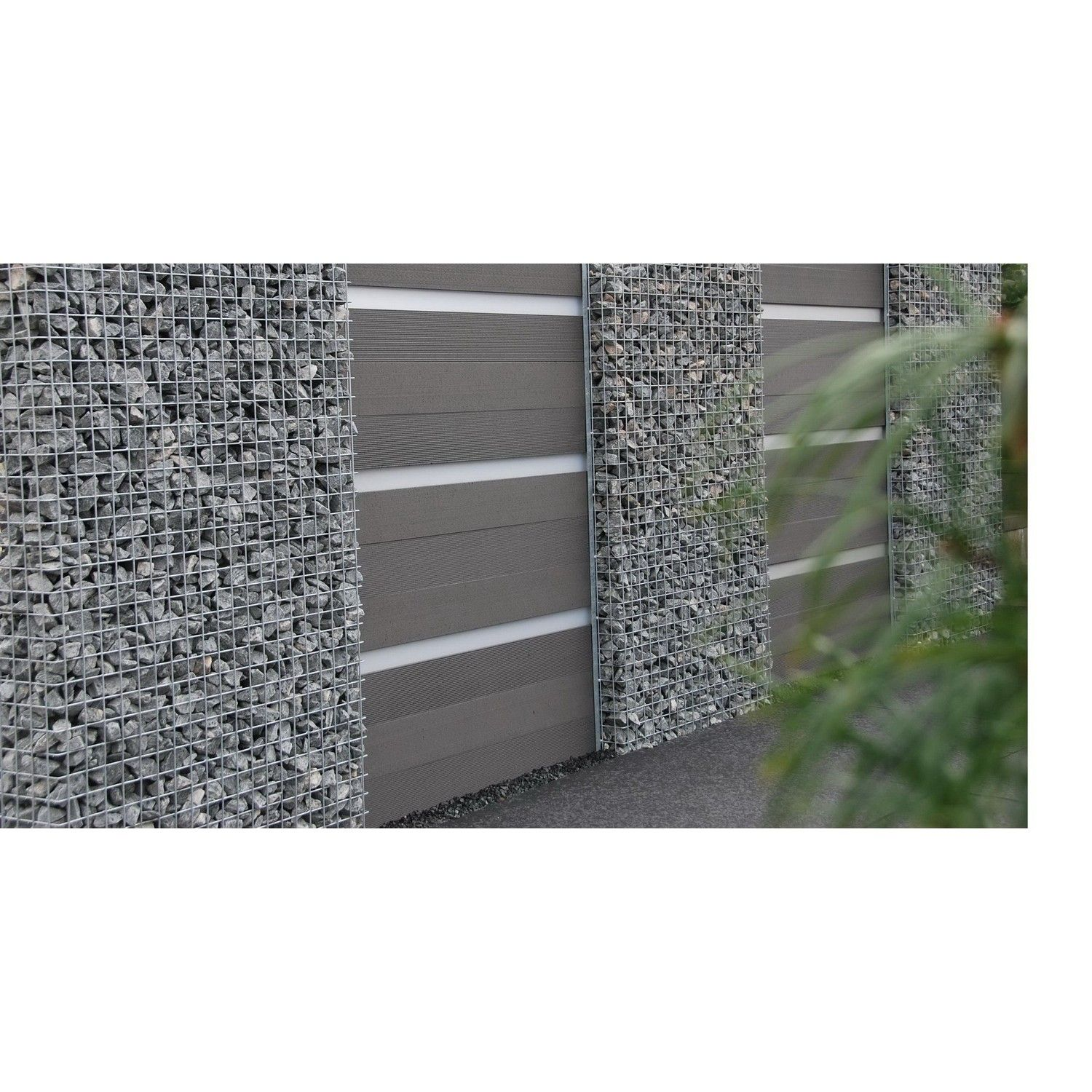 WPC Gartenzaun Set in Anthrazit 180cm lang WPC Pinterest