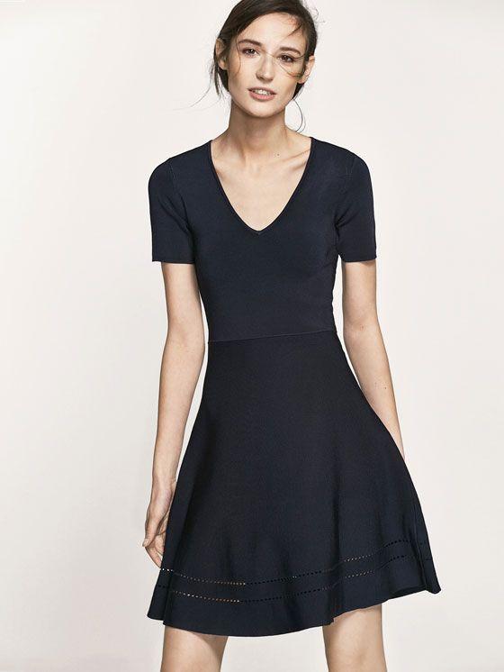 244bb9321e1 Spring summer 2017 Women´s KNIT DRESS WITH OPENWORK DETAIL ON HEM at  Massimo Dutti for 109. Effortless elegance!