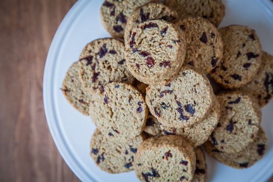 Gluten Free Maple Oat and Dried Cherry Shortbread Cookies by Irvin Lin of Eat The Love