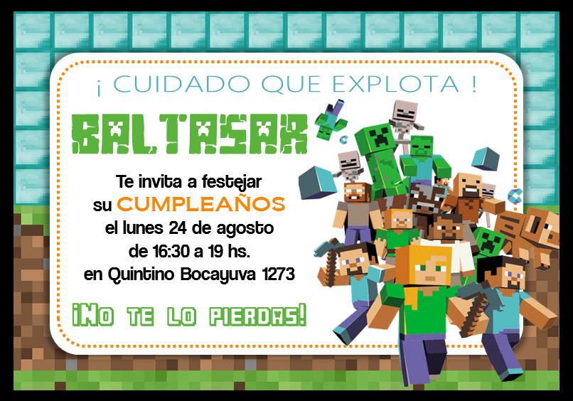 Pin De Antonio Gimenez En Deimar Invitaciones De Minecraft