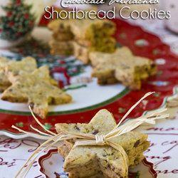 Pistachio-Chocolate Shortbread Cookie
