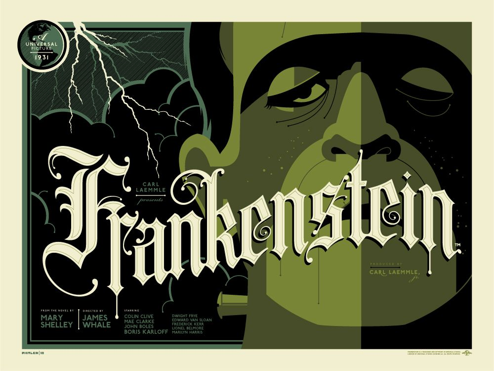 There's nothing like the classics, the Universal Monsters. Tom Whelan has teamed up with Dark Hall Mansion to bring us a great series of prints.