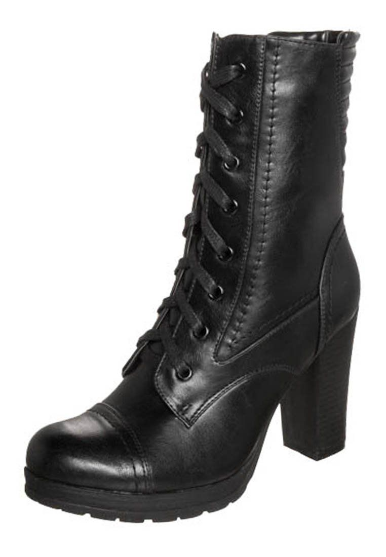 wholesale dealer 07830 5716b Stivaletti stringati - black @ Zalando.it 🛒 | Vegan Boots ...