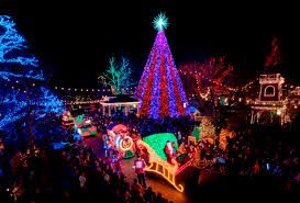 silver dollar city an old time christmas lights show and parade