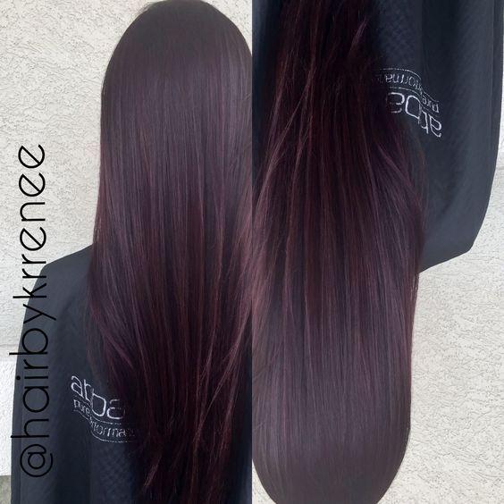 Dark Brunette Hair With Subtle Purple Tint Google Search