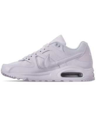 bb117e1511 Nike Men's Air Max Command Leather Casual Sneakers from Finish Line - White  10.5