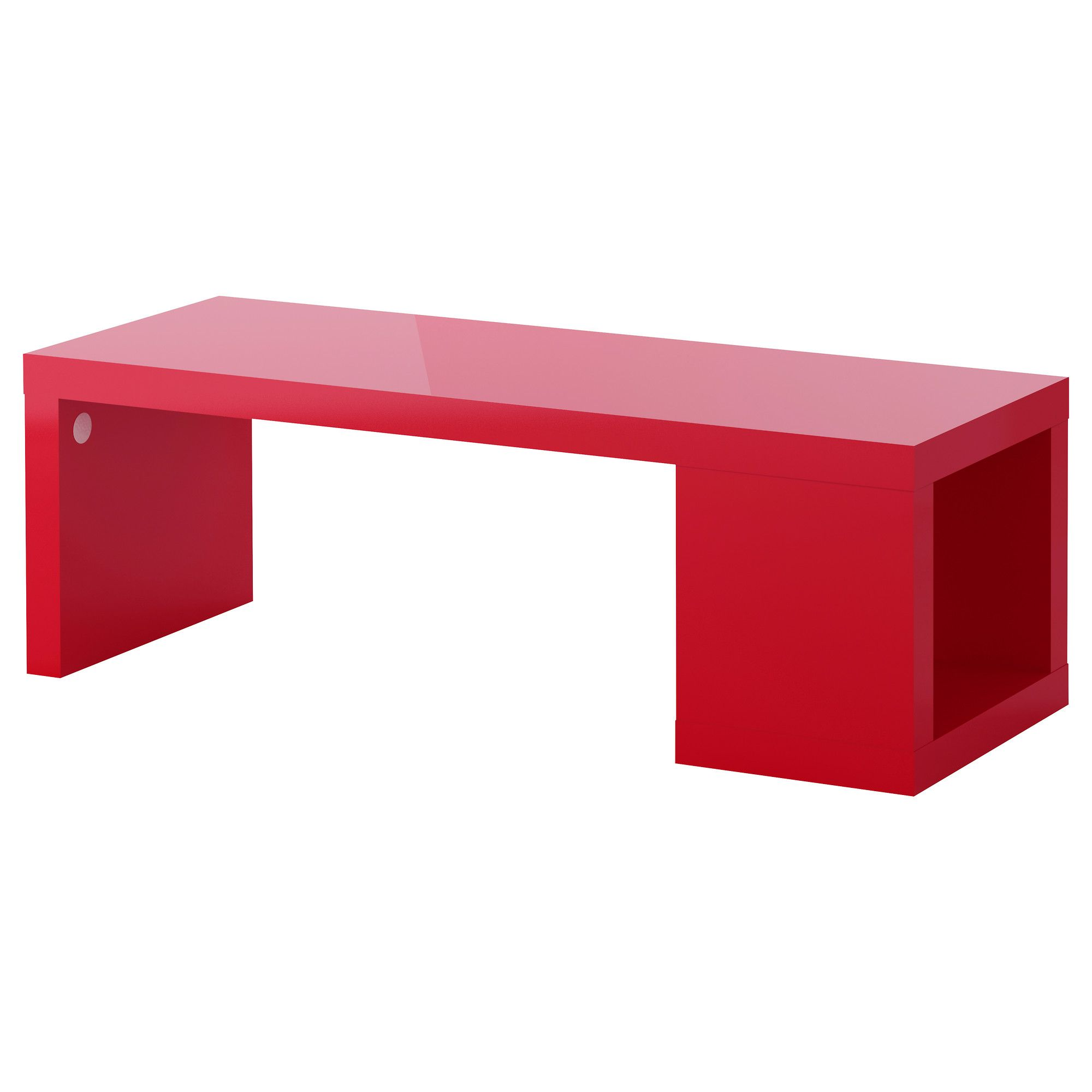 LACK Coffee table high gloss red IKEA This would be an accent