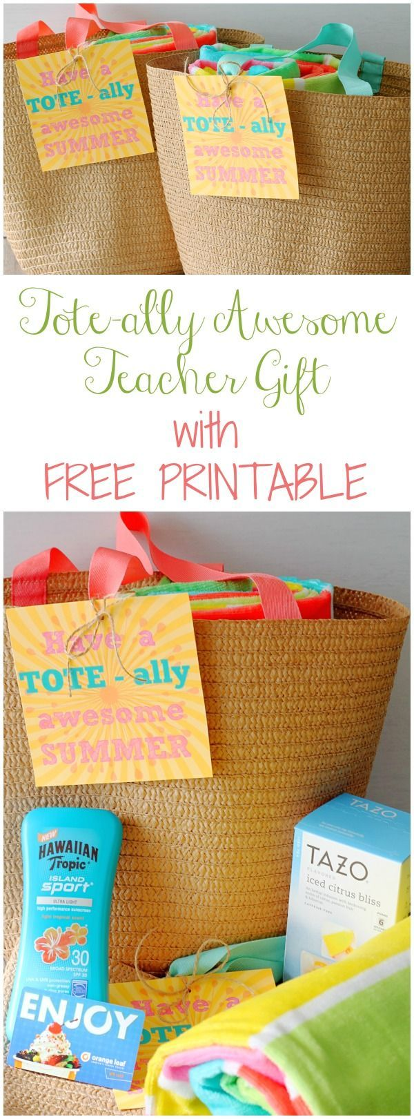 Totally Awesome Teacher Gift Free Printable by Foodtastic Mom #teachergifts