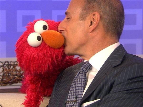 Elmo charms TODAY; Matt gives the Muppet a kiss - allDAY