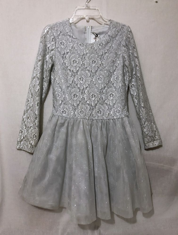 82f9759af Girls size 14 Rare Editions Christmas Holiday dress silver gray ...