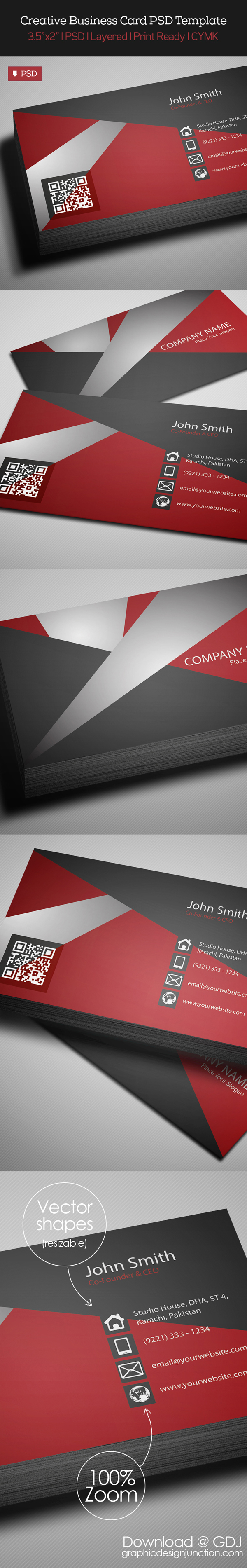 Free Creative Business Card Template PSD design