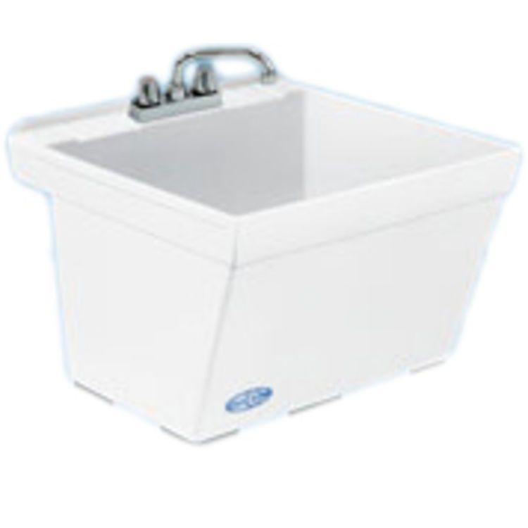 Mustee 17w 23 Durastone Utilatub Laundry Tub Wall Mount White