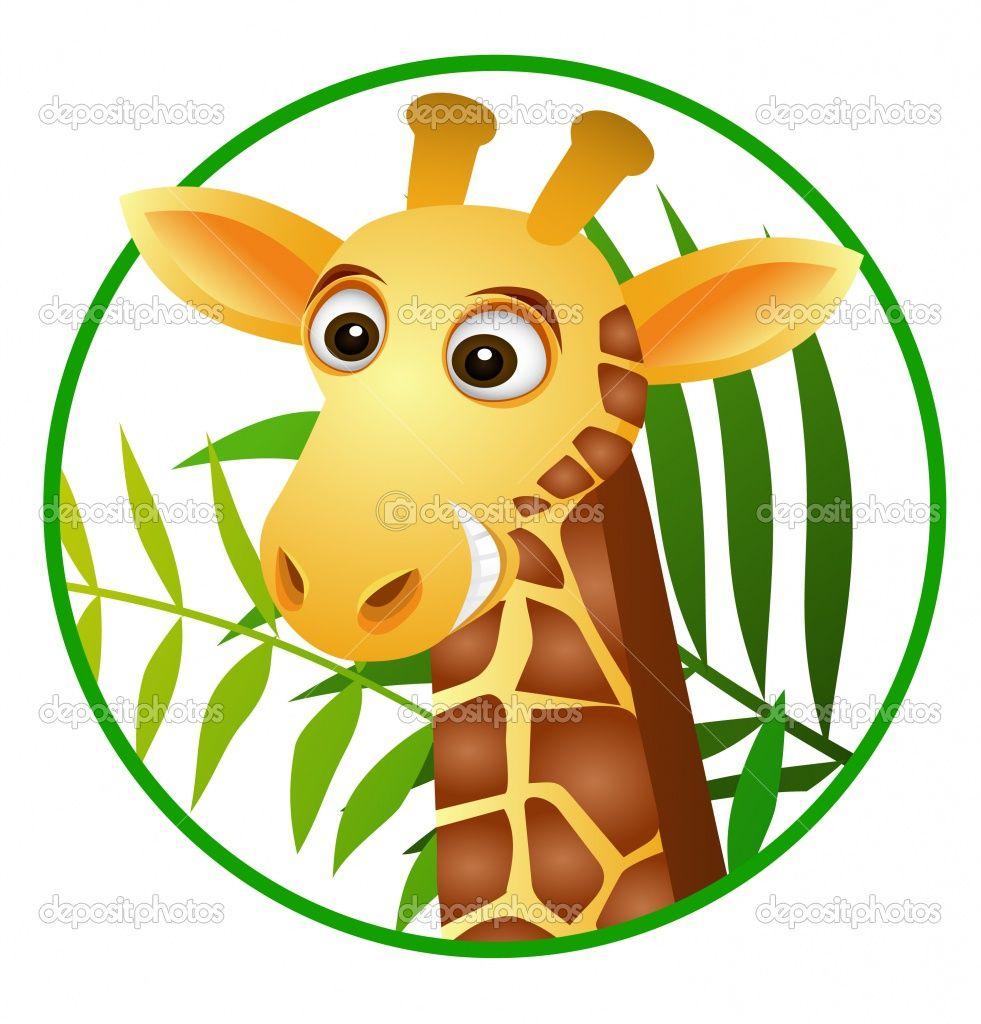 cute giraffe coloring pages   Cute giraffe cartoon   Stock Vector ...
