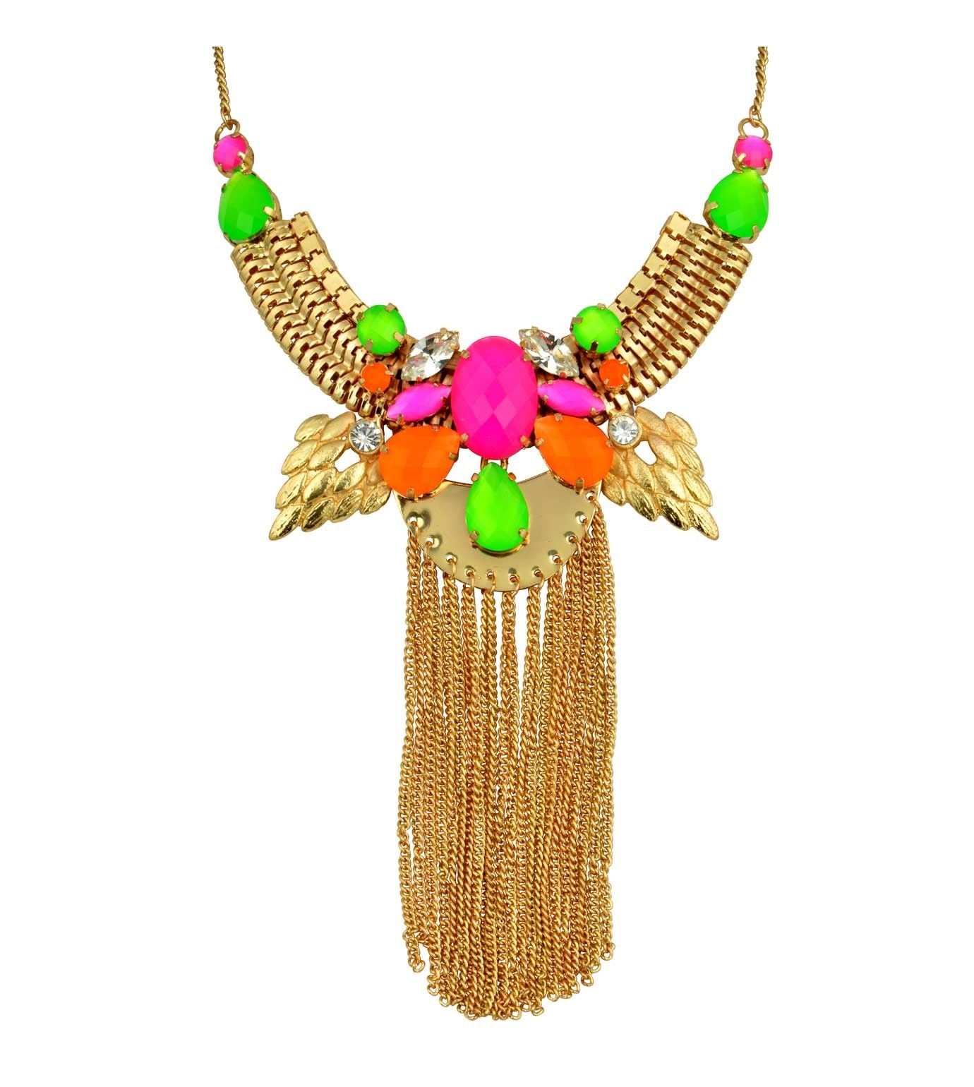 Neon Tassel Necklace {www.celliana.com}