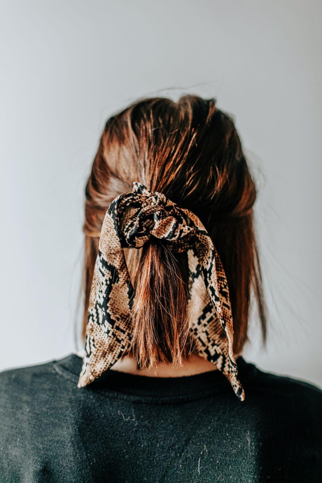 3 Hairstyles For Short Hair  Half Up Half Down Hair  Scrunchie
