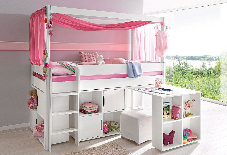 halbhohes bett 4 tlg the girl 39 s rooms pinterest hochbett bett and kinderzimmer. Black Bedroom Furniture Sets. Home Design Ideas