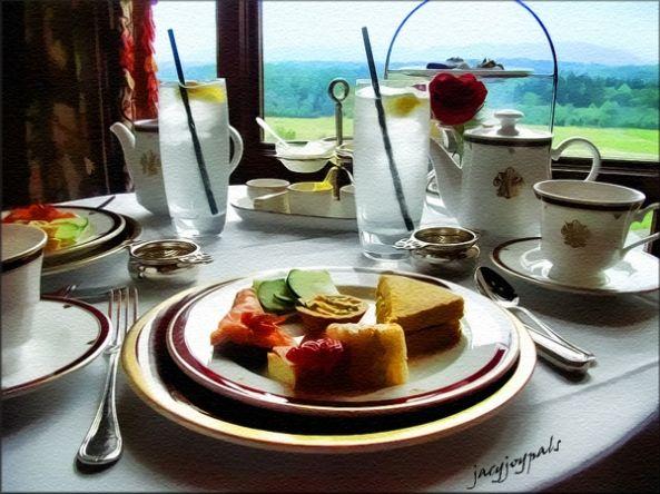 Afternoon tea at the Inn on Biltmore Estate.