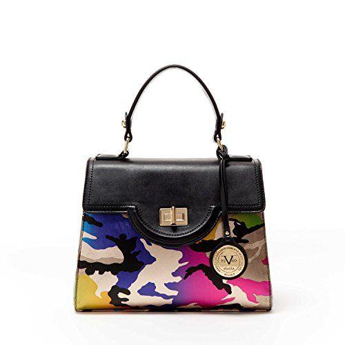 be0658f1909f Italia Womens Designer Henley Satchel Handbag by VERSACE ABBIGLIAMENTO  SPORTIVO SRL (Camo)