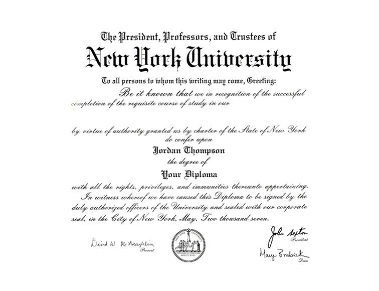 New York University Diploma Frame in 2020 Diploma frame