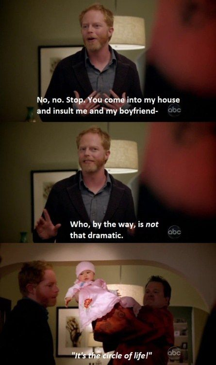 When Cam Had Perfect Timing Modern Family Funny Modern Family Quotes Modern Family