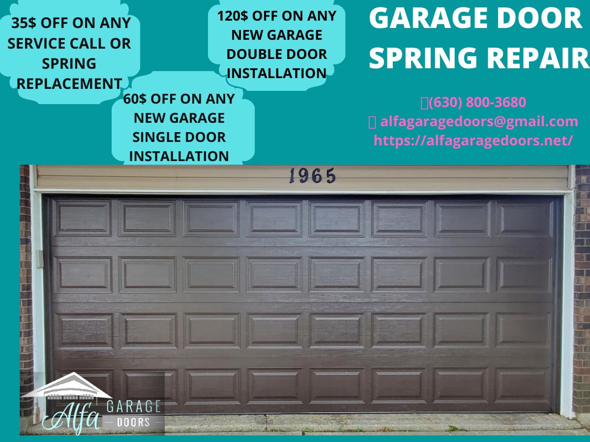 Garage Door Spring Repair In 2020 Garage Door Spring Repair Garage Doors Garage Door Springs
