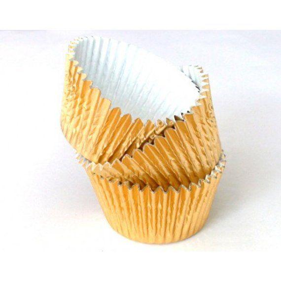 40pieces Mini Gold Foil Baking Cups CUPCAKE CASES