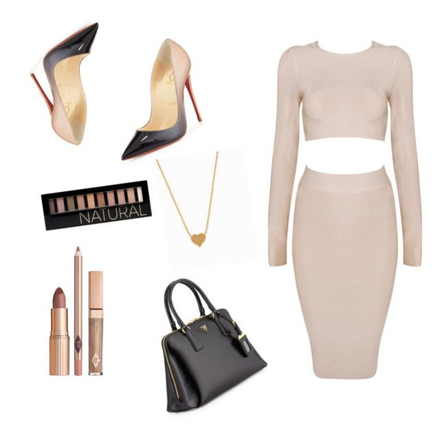 """""""Queen glamorous"""" by fashion8queen8 on Polyvore featuring Christian Louboutin, Forever 21, Minnie Grace and Prada"""
