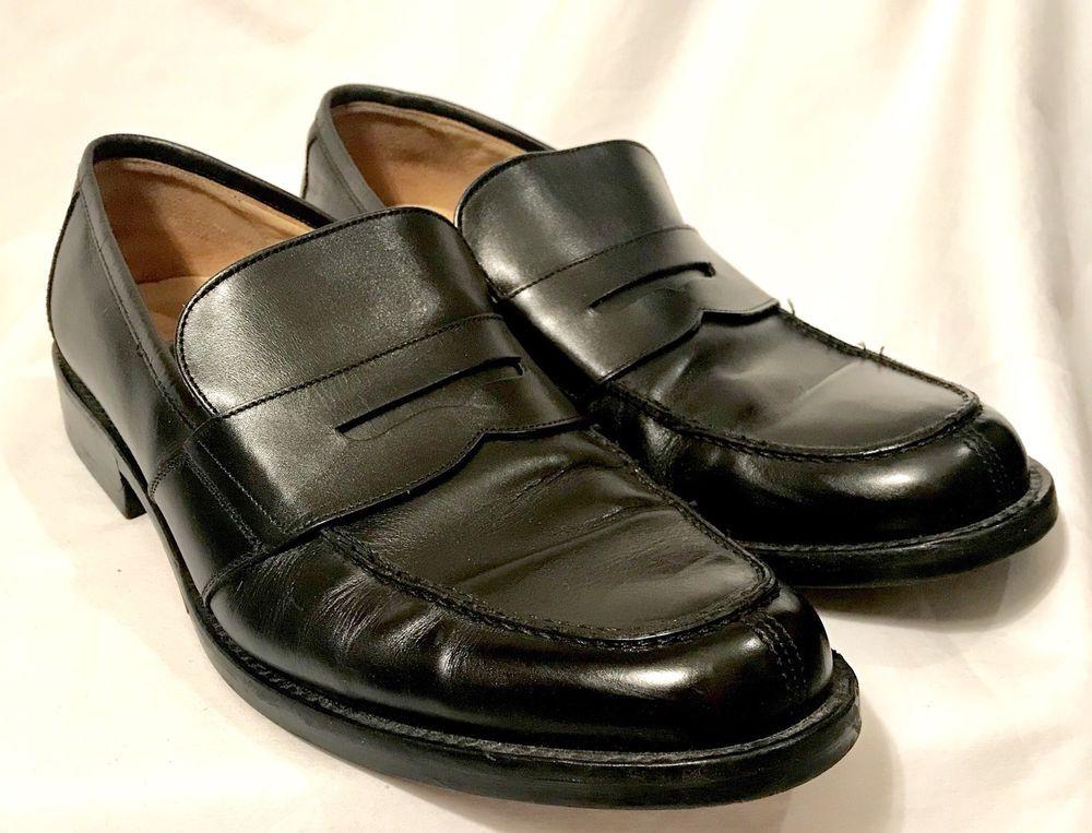 0cd0b3d1b5a Johnston Murphy Penny Loafer Mens 11 Black Leather Moc Toe Slip On Dress  Shoe