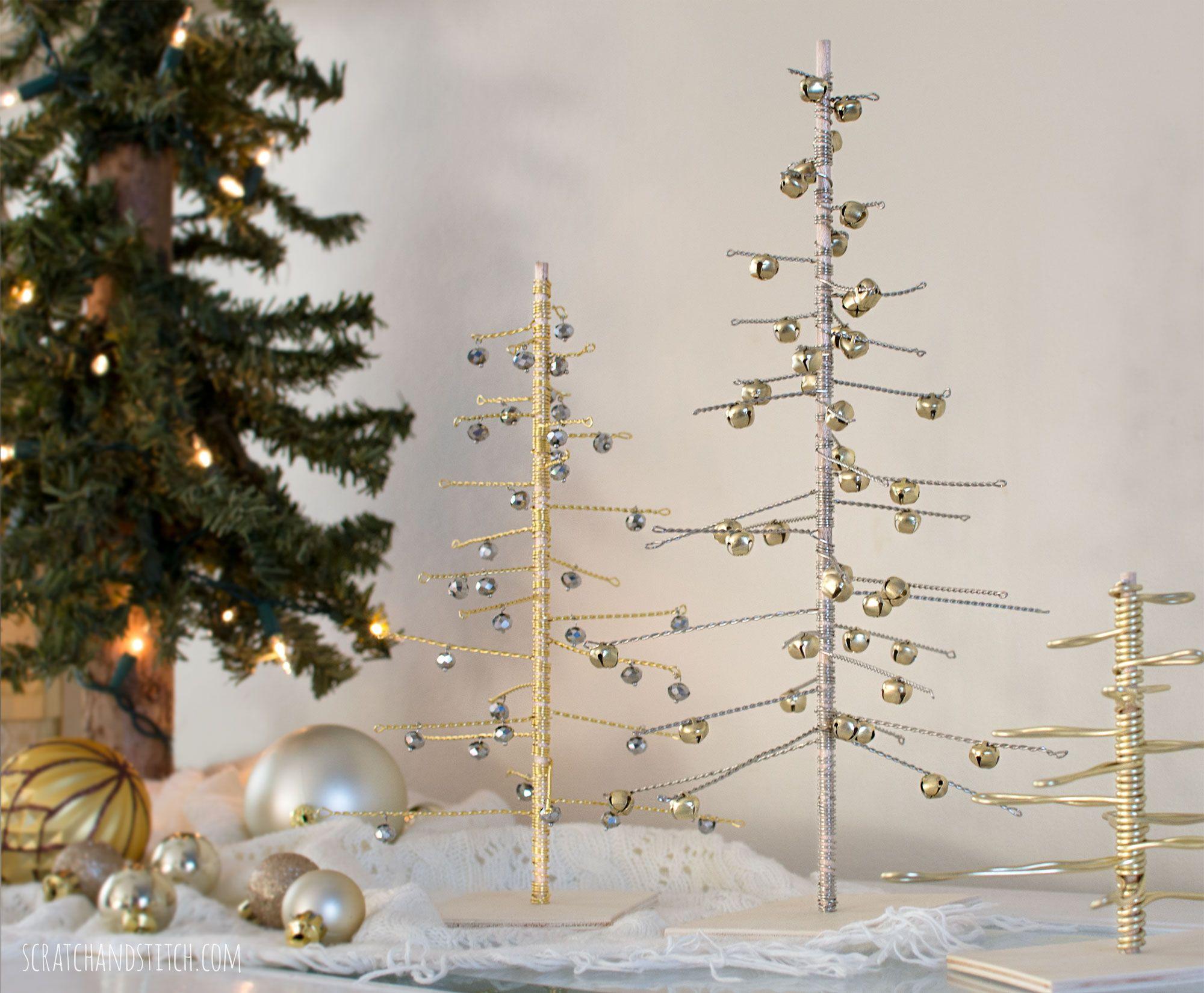 Handmade Wire Christmas Trees By Scratchandstitch Com Christmas Tree Xmas Tree Ornament Dollar Tree Christmas