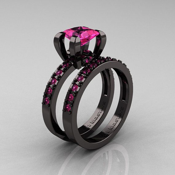 This Item Is Unavailable Etsy Black Diamond Ring Engagement Amethyst Ring Engagement Pink Sapphire Ring Engagement