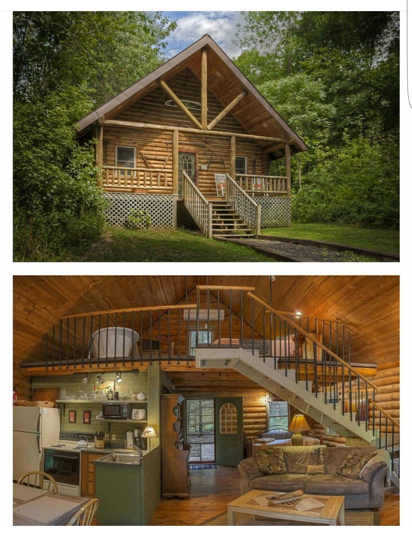 the it bath a overlooking cabin lake cabins vrbo buckat faces bed in rent as wisconsin