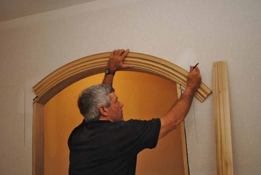Installing Arched Casing Archways In Homes Wrought Iron Decor Archway