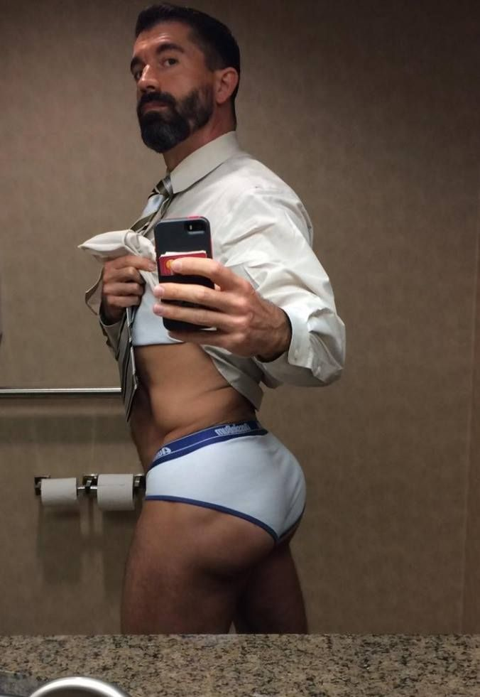 An appreciation of tight white underwear.