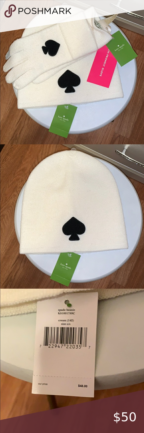 Kate Spade Cloves And Hat Brand New Kate Spades Hat And Gloves Kate Spade Accessories Gloves Mittens In 2020 Kate Spade Kate Spade Accessories Hats